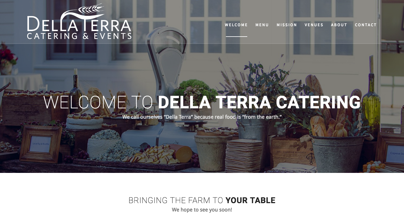 Welcome To Della Terra Catering
